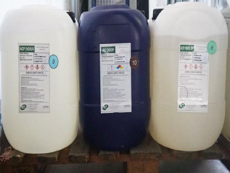 Adhesives in plastic jugs